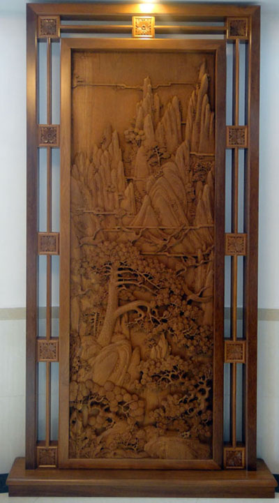 缅甸柚木木雕
