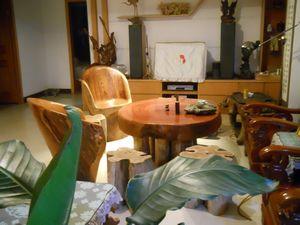 非洲黄花梨大板房间走去实木原木茶桌办公桌书桌老板桌班台画案
