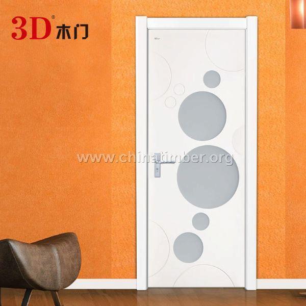 3D木门米兰白免漆门