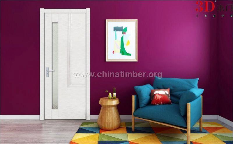 3D木门白色免漆门