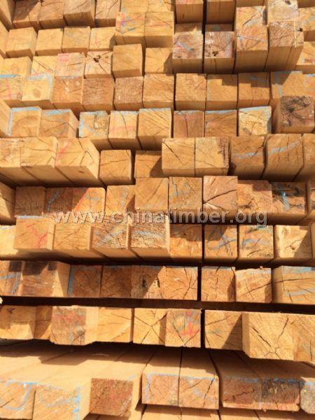 俄罗斯樟子松落叶松口料工程方木建筑材