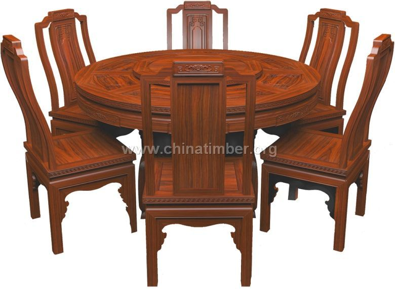 红酸枝餐桌椅