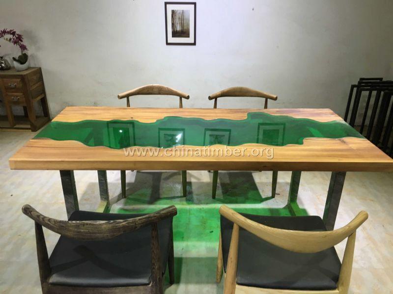 胡桃木实木大板 餐桌茶桌玻璃桌
