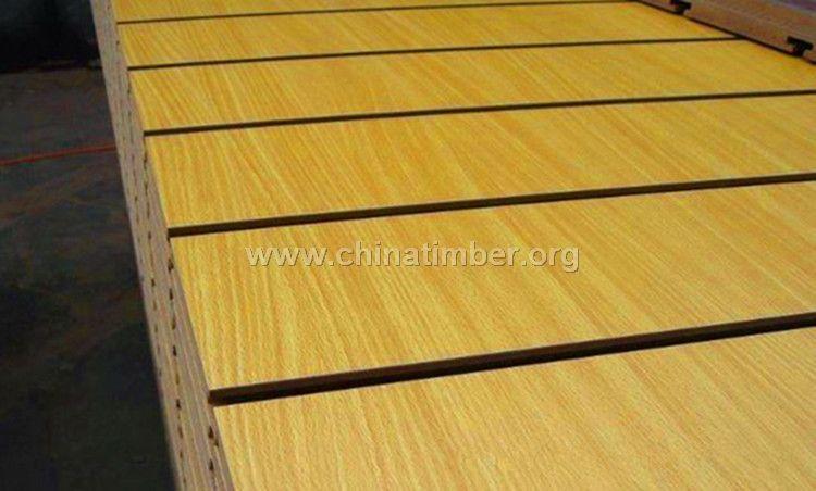 供应MDF中纤板饰面 榉木色