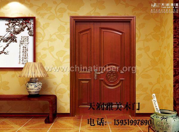 高档家用门烤漆门简约中式木门质量好木门信誉好
