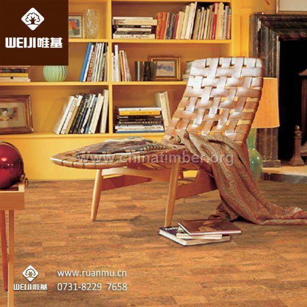 湖南唯基粘贴式软木地板葡萄牙进口经久耐用工厂直销