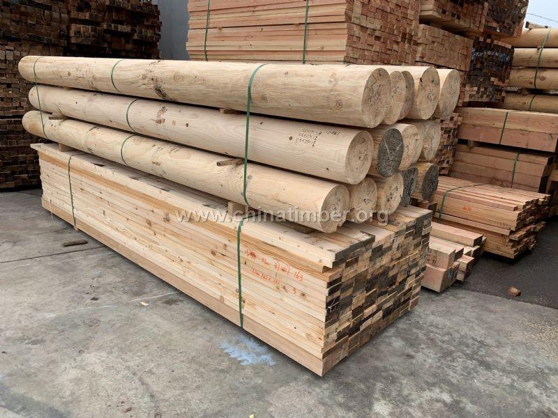 杉木�A柱��木柱子仿古建立柱防腐木板材�F杉�A木�敉��