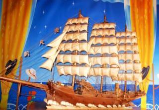 一帆风顺木船