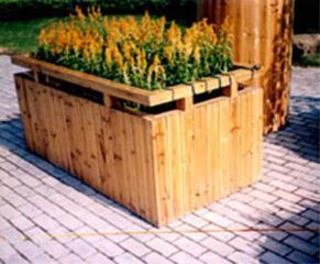 防腐木花槽、花箱