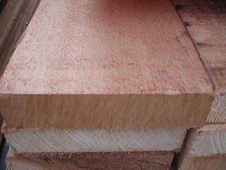红雪松清材毛面湿材