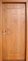 B-凸081 实木橡木敞开式木纹门