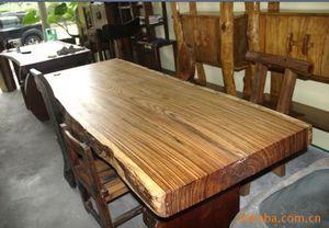 大板茶台斑马木大板实木红木家具书桌画案吧台