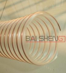 排粉尘PU透明钢丝软管