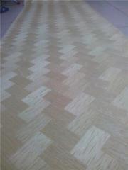 白橡编织木皮