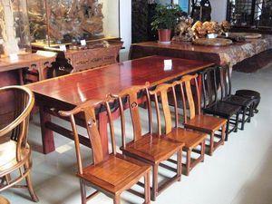 巴花实木大板原木餐桌茶桌茶几大班台主管桌画案原木