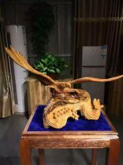 木雕摆件之大鹏展翅