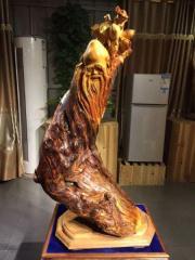 木雕摆件之寿星公