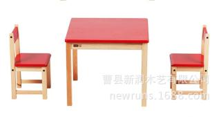 出口澳洲原品儿童学习桌双椅厂家定制