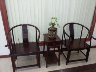 老挝红酸枝圈椅