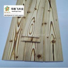 仿复古装饰木板 炭烧桑拿板 芬兰松木碳化木