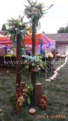 婚庆装装饰用杉木杆 绿化杆