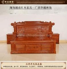 花梨家具--大床(3件套)