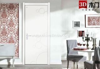 3D木门德系实木复合门,高品质的家装用门