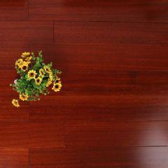 麦可麦乐圆盘豆实木地板平面纹辊涂室内平扣环保地板