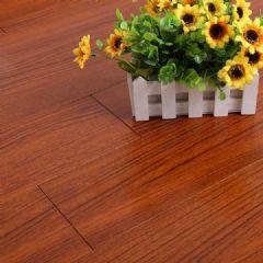 桦木仿古实木地板波浅红色柚木色室内平扣地板