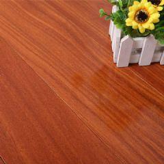 龙凤檀实木地板平面辊涂本色,红黄色平扣地板