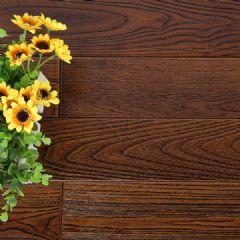 金刚柚实木地板PU仿古青铜色平扣室内地板