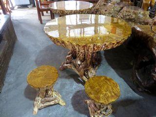 1000年金丝楠瘤子根雕餐桌,极品满水波纹
