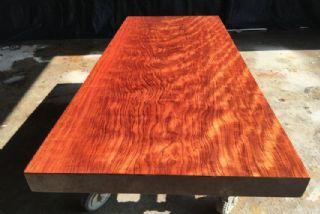巴花大板极品纹路实木大板办公桌