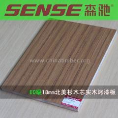 双面UV实木烤漆板细木工免漆板