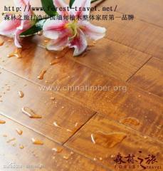 极品虎斑影柚木纯实木地热地板