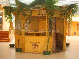 竹别墅,竹屋,竹楼,竹房子,竹门楼,竹篱笆墙,竹廊