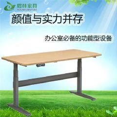 煜林办公家具电动升降桌 智能站式办公桌 新型可上下