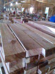 大量批发青冈、柞木、白橡规格料小叶相思木地板毛胚料