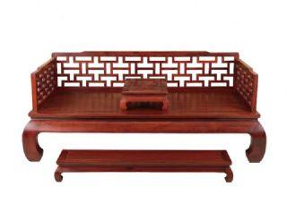 红酸枝 古典曲尺罗汉床