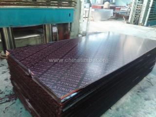 18mm二次热压、棕膜建筑覆膜板