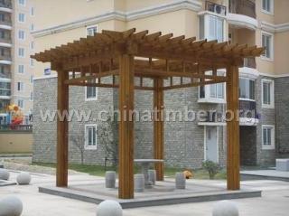 阳台木花架