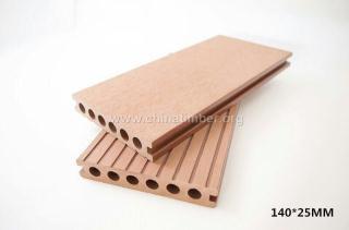 户外塑木地板140H25圆孔