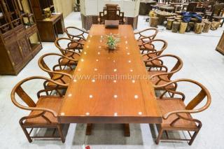 巴西花梨木大板办公桌