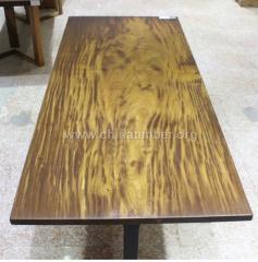 柚木实木大板可当餐桌画案会议桌办公桌大班台