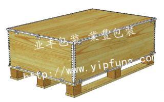 业丰钢边箱厂家直供出口免熏蒸包装箱 可拆卸钢带箱