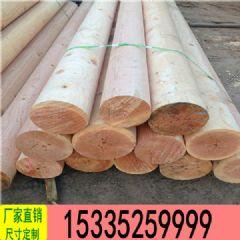厂家定制加工古建木圆柱电线杆