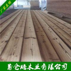 批发碳化木扣板桑拿板 护墙板松木 阳台吊顶飘窗火烧