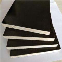 黑色覆膜板杨木整芯黑色覆膜板可反复使用防博汇胶合板
