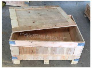 广州胶合板钢扣钢带木箱实木木箱出口免检免熏蒸木箱厂