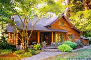 瓷态竹地板木屋别墅